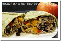 Black Bean and Butternut Squash Burrito