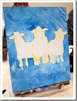 Sheep background - Heather