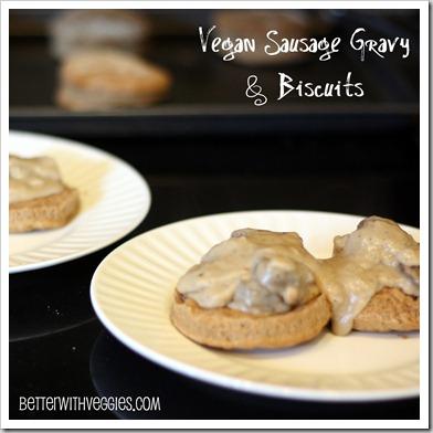 Vegan Sausage Gravy & Biscuits
