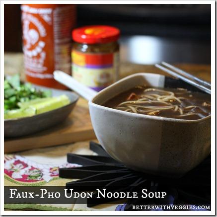 Faux-Pho Udon Noodle Soup