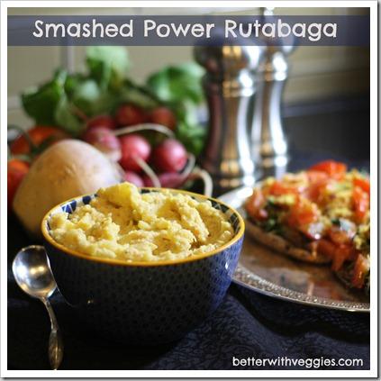 Smashed Power Rutabaga #vegan