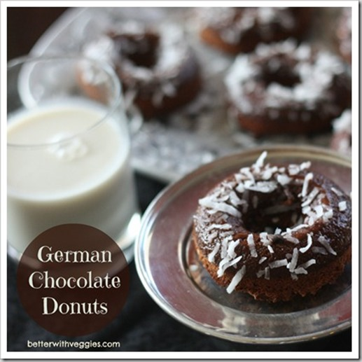 German Chocolate Donuts