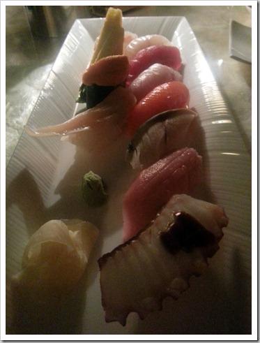 Sushi at Mizumi