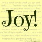 My Focus Word for 2014: Joy