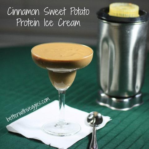 Cinnamon Sweet Potato Protein Ice Cream