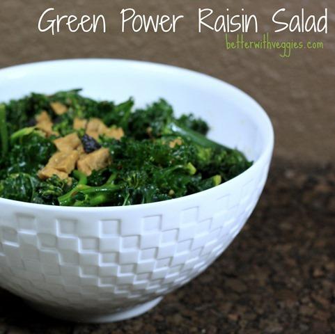 Green Power Raisin Salad