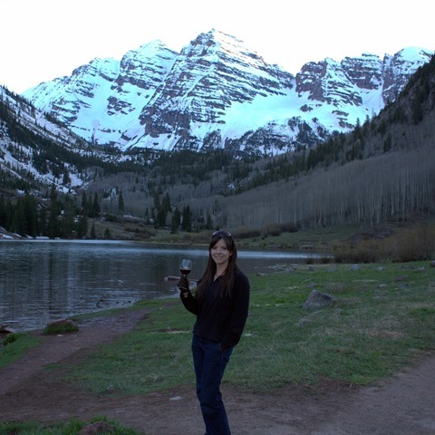 Sunset at the Maroon Bells