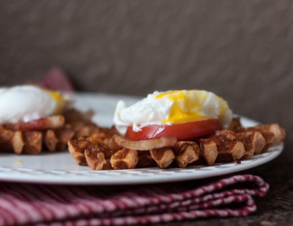 Savory Waffle Eggs Benedict // FITaspire.com