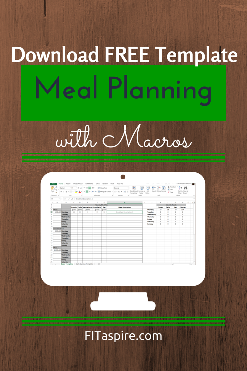 meal planning with macros