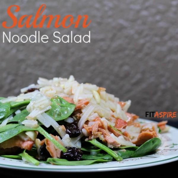 Salmon Noodle Salad recipe// FITaspire.com