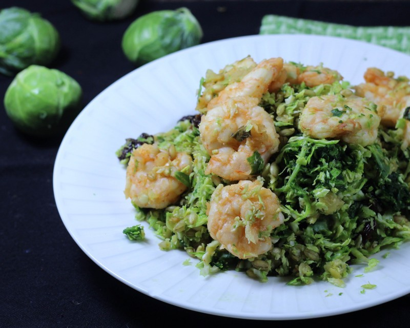 Greens & Grains Shrimp Salad