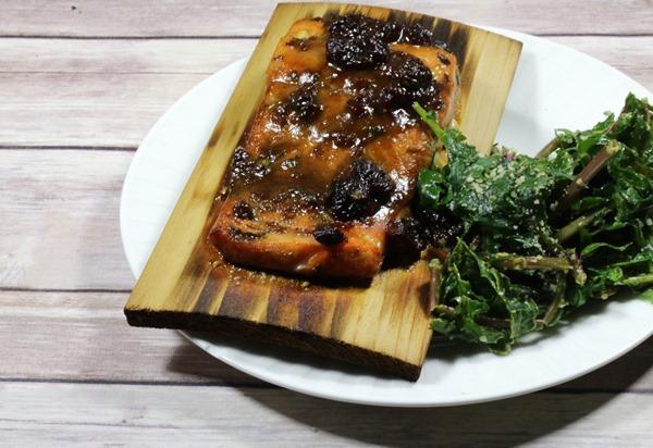 Cherry-Fig Glazed Salmon