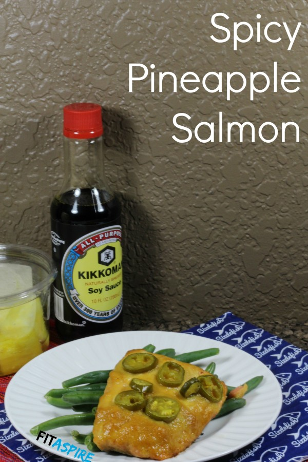 Spicy Pineapple Salmon - A sweet & spicy grilled salmon recipe that's easy to make.