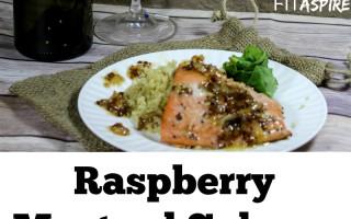 Raspberry Mustard Grilled Salmon