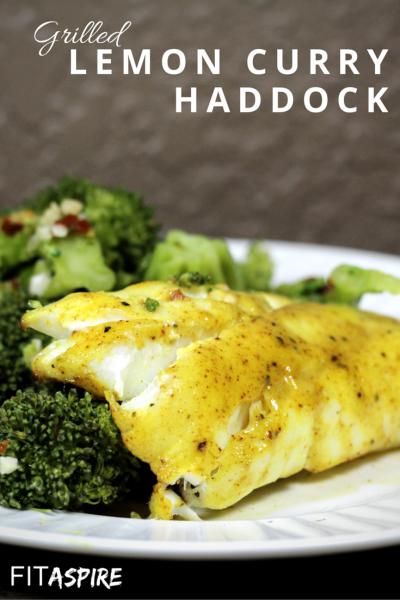 Grilled Lemon Curry Haddock